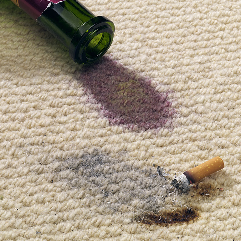 Carpet Patch for wine and cigarette stains